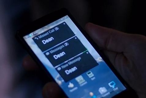 File:Dean's calling Castiel in 'The Future'.PNG