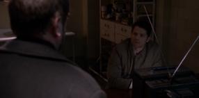 Crowley and Castiel inside Cas's head