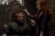 Rowena talking to Crowley (The Hunter Games)