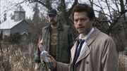 Castiel and Bobby working together