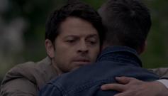 Cas and Dean hug, Alpha and Omega