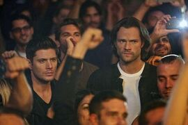 Sam and Dean at the Meteor club