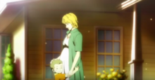 Pregnant Mary with young Dean (Anime) 1