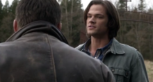 Dean and Lucifer!Sam at Stull Cemetery2