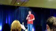 Supernatural NJ Convention Brock Kelly being iced