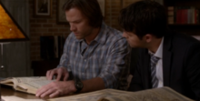 Sam and Lucifer researching