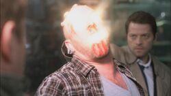 Castiel saves dean