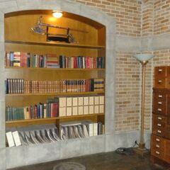 Книжный шкаф и топор