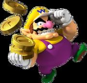Wario robbing the bank