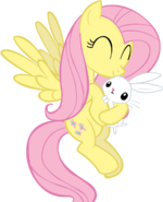 Fluttershy holding angel by jlee104-d4jt0md