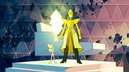 Diamante Amarelo em Mensagem Recebida