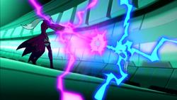 Batalha de magia entre Gwen e Encantriz