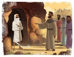 JESUS-CHRIST RAISES+LAZARUS