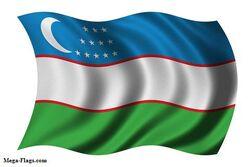 Flag Uzbekistan