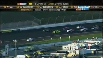 Green-White-Checkered Finish - 2012 NASCAR Nationwide Kansas Lottery 300