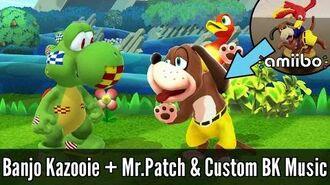 Banjo-Kazooie & Mr.Patch (+Scannable BK Custom Amiibo) - Super Smash Bros. Wii U Mod