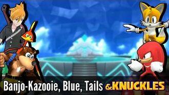 Banjo-Kazooie, Blue, Tails & Knuckles - Super Smash Bros. Wii U Mods & Knuckles
