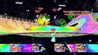 SSBB Epic Battles -270 Mario -N64- vs. Luigi -N64- vs. Princess Rosalina -N64- vs. Bowser -N64-