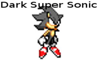 Dark Super Sonic Sprite