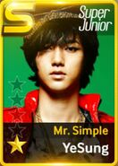 Yesung Mr Simple