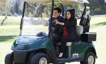 S03E19-Amy Jonah golf cart