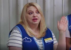 S00E1-Justine sings carwash