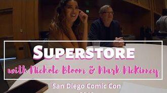 Nichole Bloom & Mark McKinney talk 'Superstore' at San Diego Comic Con