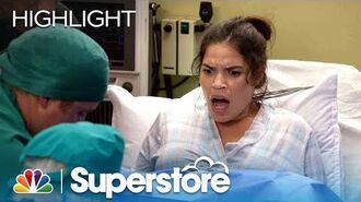 Amy and Dina Deliver Their Babies - Superstore (Episode Highlight)