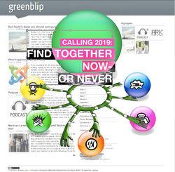 1-greenblip as central hub