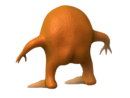Orang Back Transparent