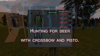 Survius - Hunting for deer with crossbow and pistol.