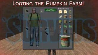 Survius - Looting the Pumpkin Farm!