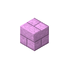 Ladrillo de piedra rosa