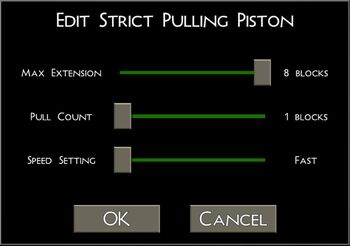 Strict Pulling Piston UI
