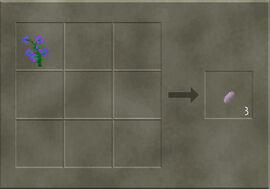 Craft purple flower seeds
