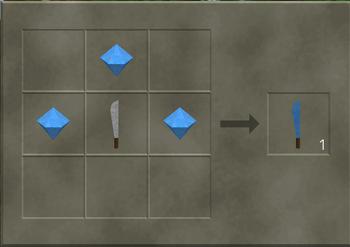 Crafting a diamond edge machete
