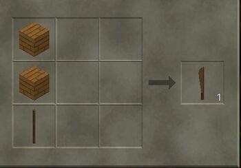 Craft a wooden machete