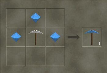 Craft a diamond pickaxe.