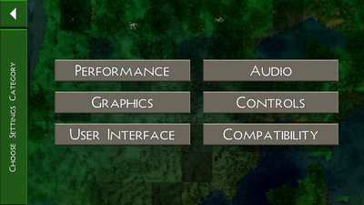 Settings Categories