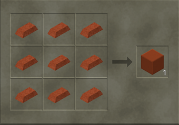 Solid Copper Block craft