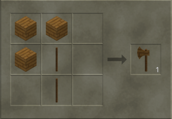 Wooden Axe craft