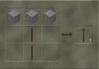 Stone Pickaxe craft