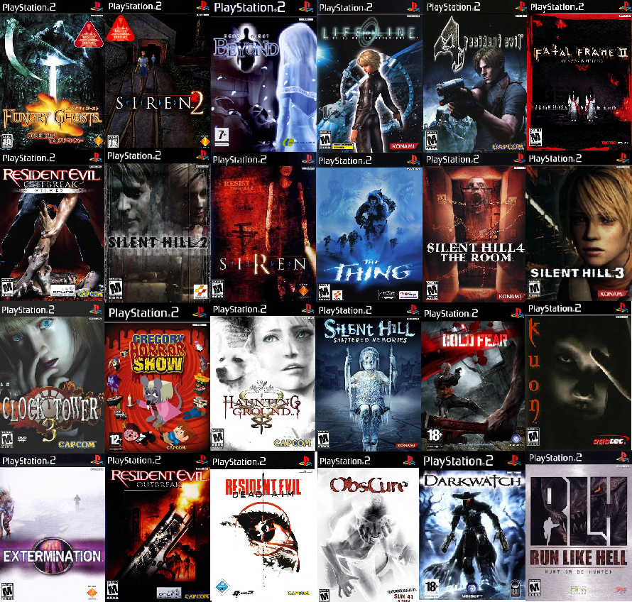 horror ps1 games