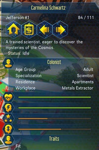 Example colonist