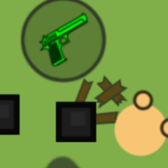 A DEagle 50 that spawned out of a box