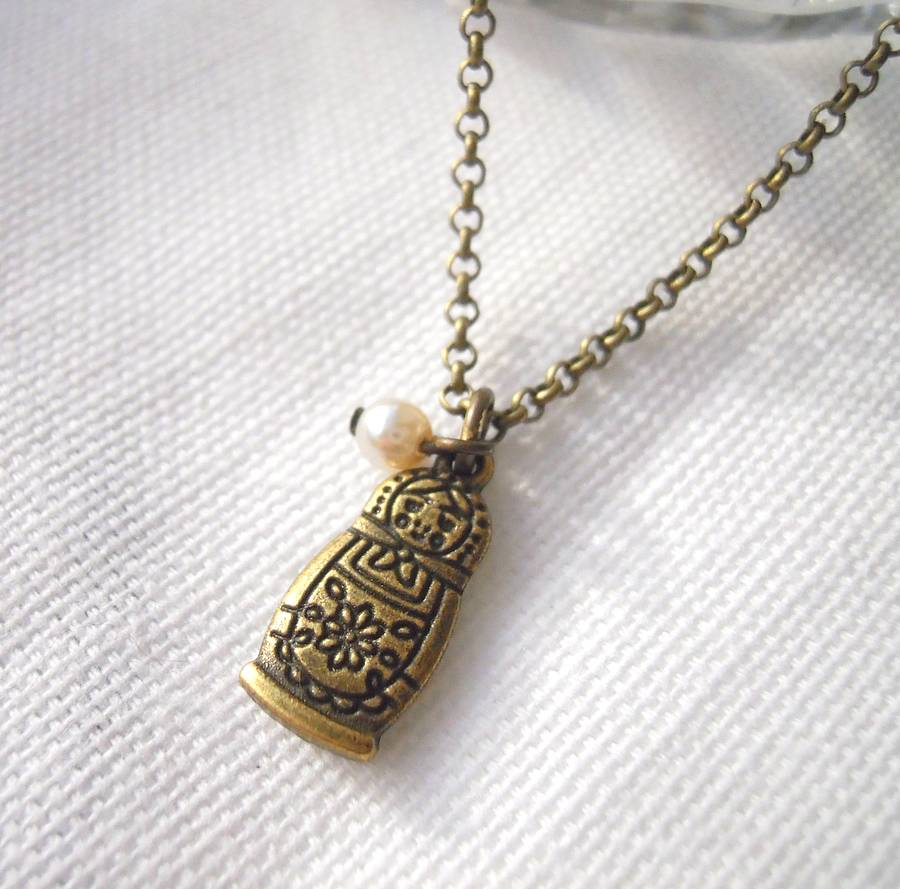 Original russian-doll-charm-necklace
