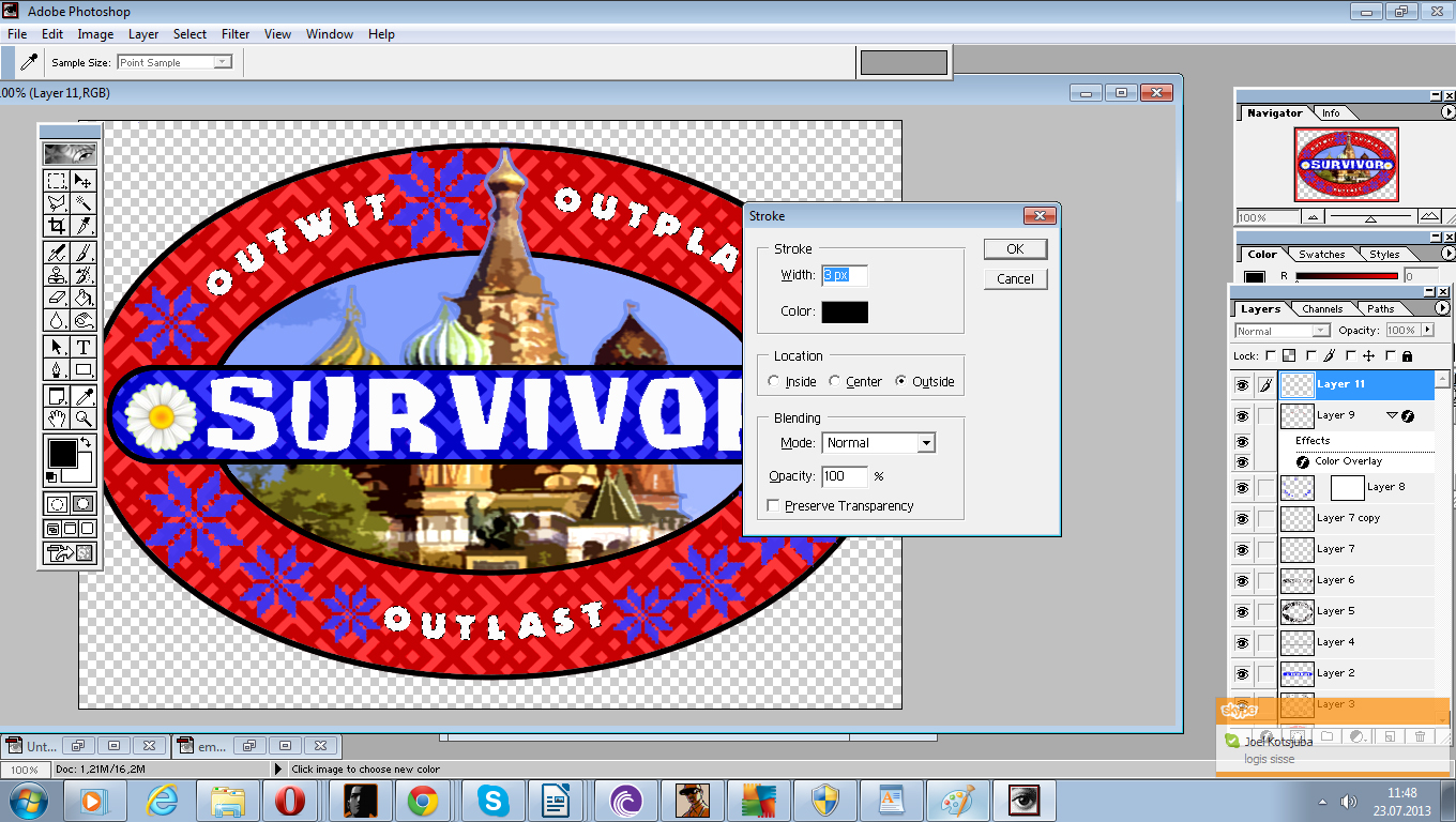 Logo tutorial survivor org wiki fandom powered by wikia now it is time to finally put the borders around the texts in the logo i used a simple black one with 3px width on outwit outplay and outlast maxwellsz