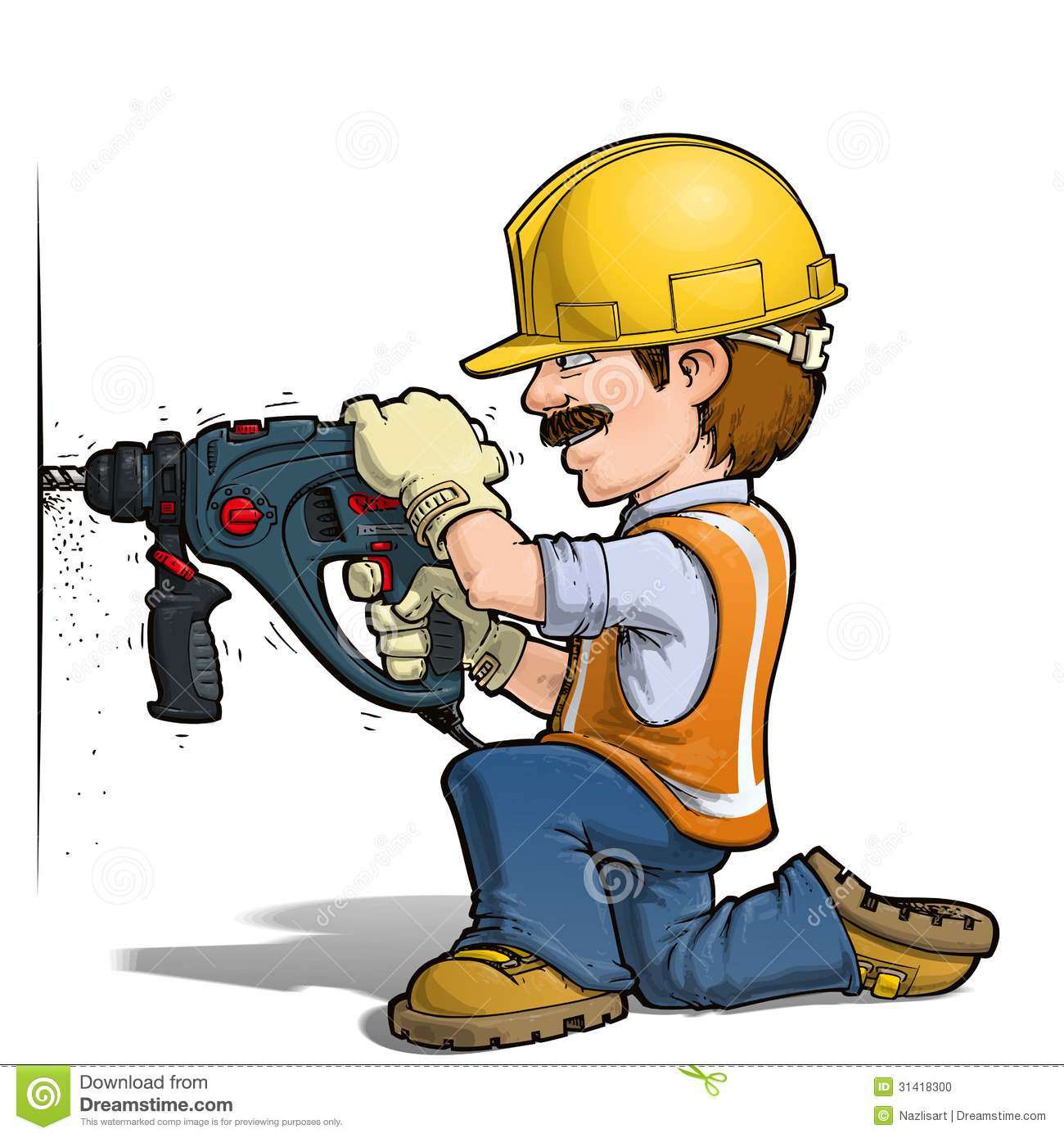 image construction workers nailling cartoon illustration worker