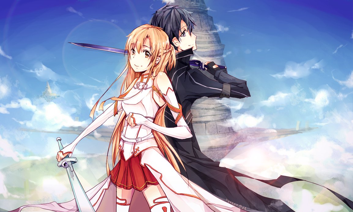 Kirito And Asuna Sword Art Online 35842915 1153 692