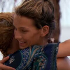 Christine hugs Mikayla after the latter lost the duel.